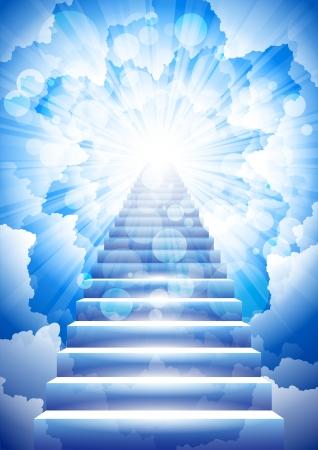 himlen: trappa till himlen Illustration