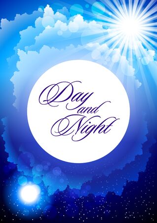 day and night Stock Vector - 13035531