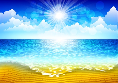 Beach background Stock Vector - 13025332