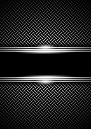 background with a metal grid Vector