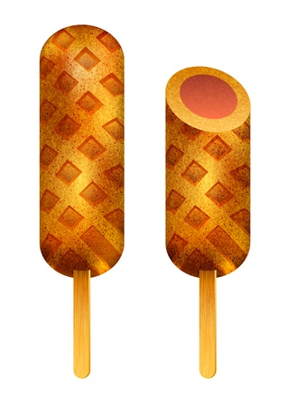 Corn Dog Stock Vector - 13292645