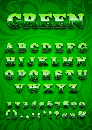 green letters Vector
