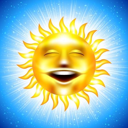 happy summer sun Stock Vector - 13548313
