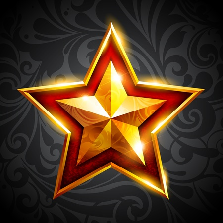 web2: gold star Illustration