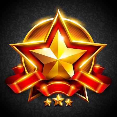 gold stars Illustration