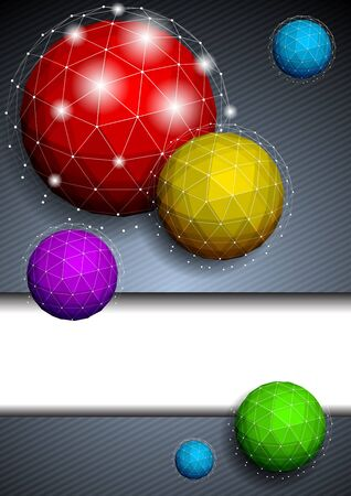 Background with polygonal sphere Vector