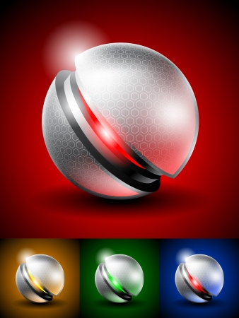 High tech abstract icon Vector