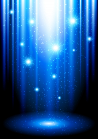 sparkles: Background with blue glow Illustration