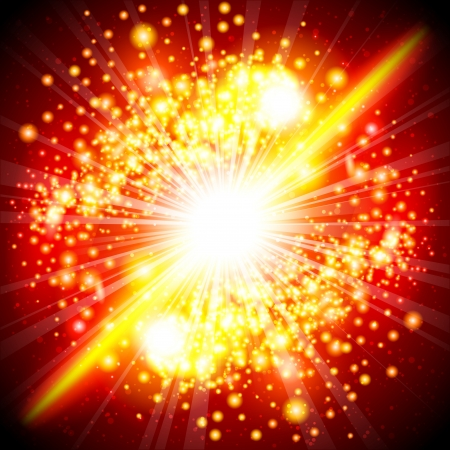 Background with a flash of the explosion Stock Vector - 14584873