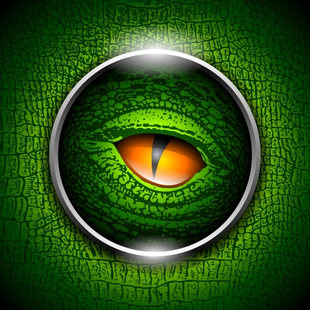 green eyes: Eye of reptiles