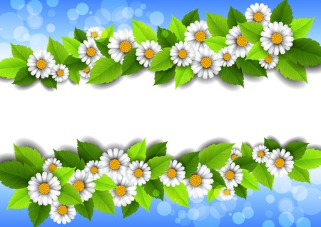 place for text: de fondo con flores y lugar para el texto Vectores
