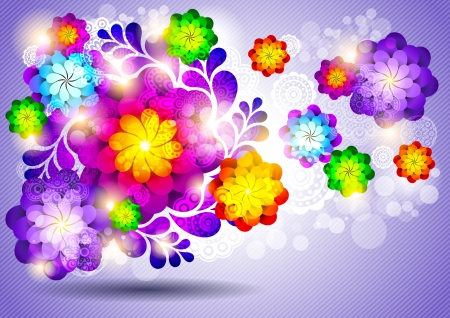 Abstract background with flowers Stock Vector - 15099052