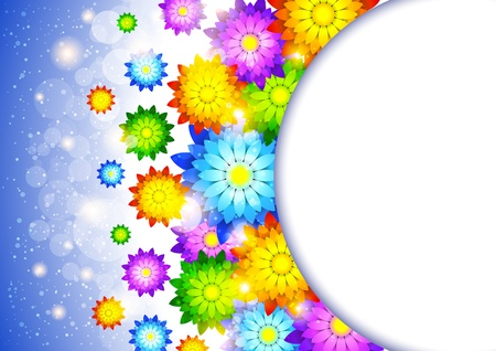 Background with abstract flowers Vector
