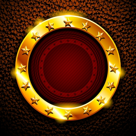 casino: Gold frame with stars