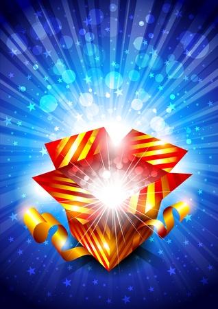 goldy: Sfondo luminoso con il contenitore di regalo