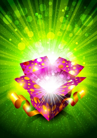 Bright background with gift box Illustration