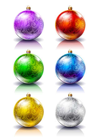 Christmas balls. Christmas decorations. Vector