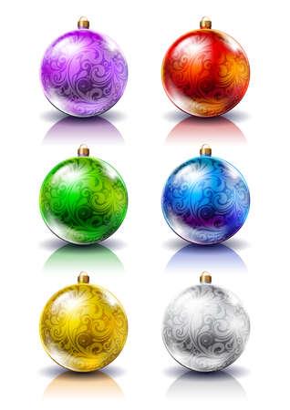 Christmas balls. Christmas decorations. Stock Vector - 15711002