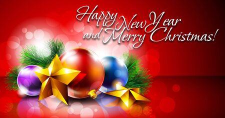 Christmas Card Stock Vector - 15711001