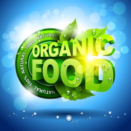 100% Organic food conceptual designs Stock Vector - 16137225