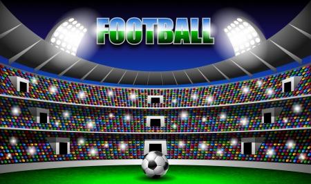 portero futbol: Estadio de F�tbol Vectores