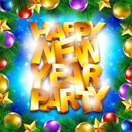 Happy new year party Stock Vector - 16857625