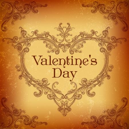 calligraphic design: Valentines Day