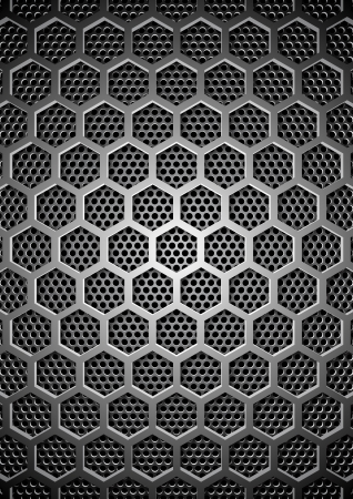 hexagon background: Metal background