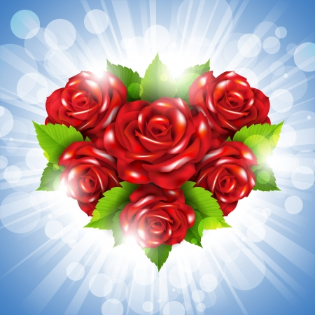 Heart of roses Stock Vector - 17687446