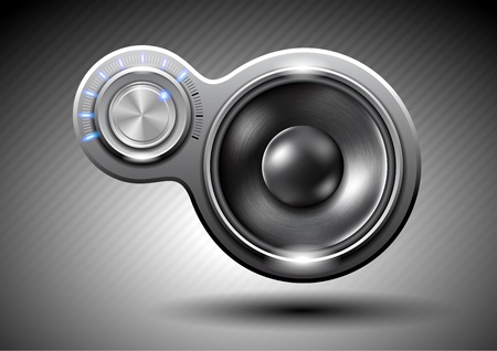 Abstract music speaker Vector