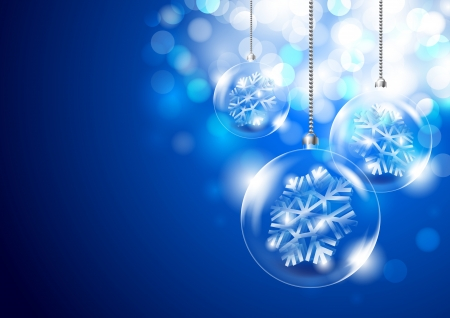Christmas background with glass balls
