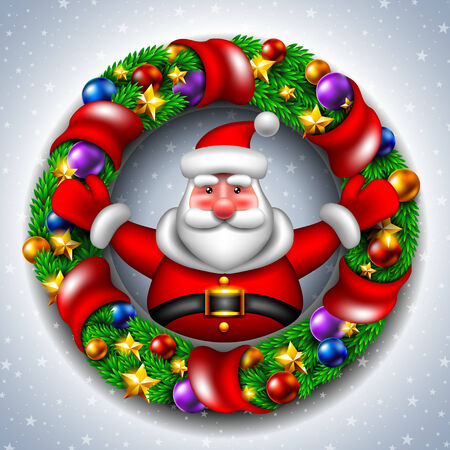 greybeard: Babbo Natale con una corona di Natale