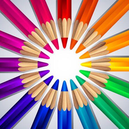 colored pencils: Colored pencils Illustration