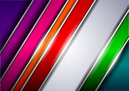 iridescent: Background with colored stripes Illustration