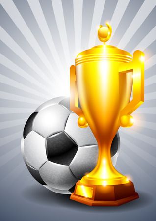gold cup: Gold cup with a football ball Illustration