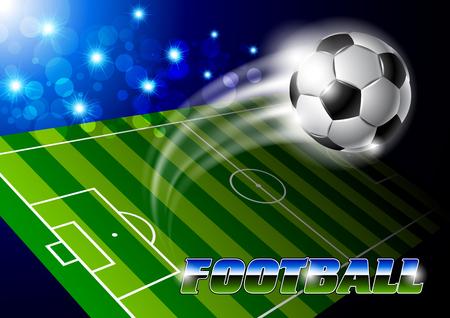 spectator: Stadium with soccer ball