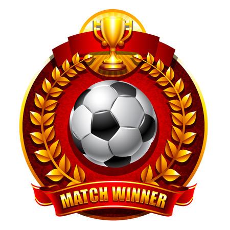 Football or soccer emblem Illustration