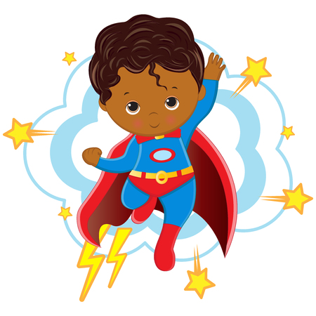 Vector - Illustration of Superhero boy Cartoon character