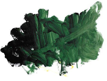abstraction, green gradient, handmade texture brush strokes 写真素材