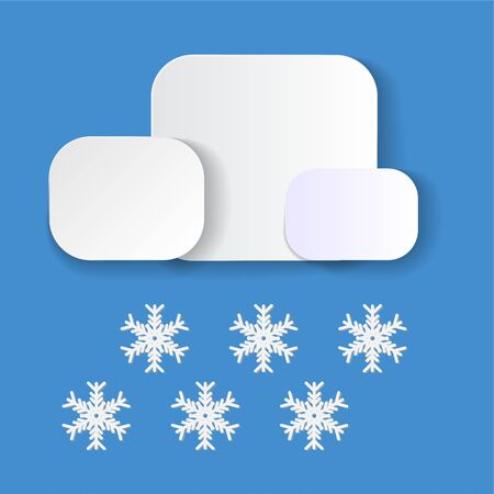 Simple weather icons. Summer vector elements with paper cut flat. sun and cloud isolated in blue background. Vector illustration of cloudscape. web and mobile app illustration. Modern 3d paper art
