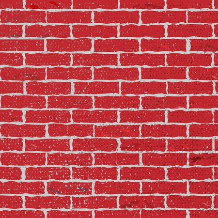 Red brick wall background, old brick wall background in design loft style