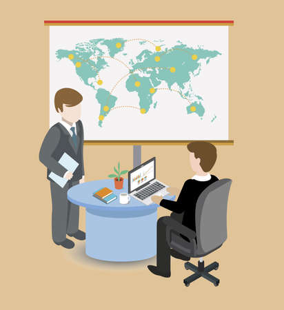 assignment: business assignment vector illustration with flat office design Illustration