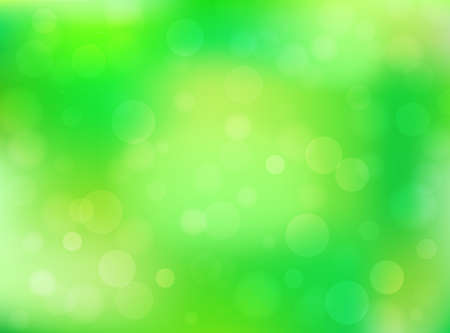Green abstract bokeh spring background. Vector eps 10.