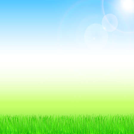 Spring and summer background with sunshine. Vector eps 10.