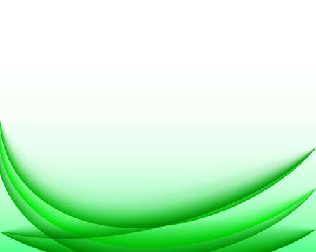 Abstract green wavy business background. Vector eps 10.