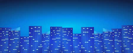 Bright night city background.
