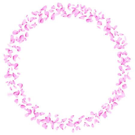 Petal circle decoration element.