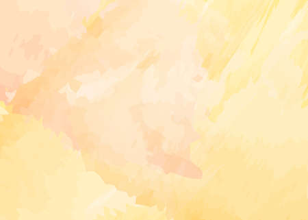 Yellow watercolor background with light pink hue. Abstract creative design with pastel colors. Vector illustration.