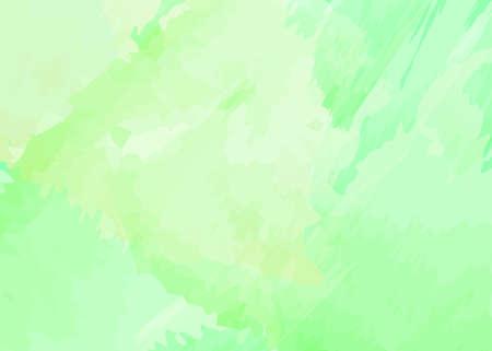 Fondo de acuarela verde con tono amarillo claro. Diseño creativo abstracto con colores pastel. Ilustración de vector. Ilustración de vector