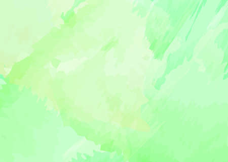 Green watercolor background with light yellow hue. Abstract creative design with pastel colors. Vector illustration.